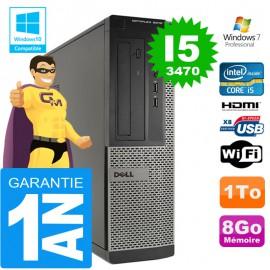 PC DELL 3010 DT Core I5-3470 Ram 8Go Disque 1 To Wifi W7