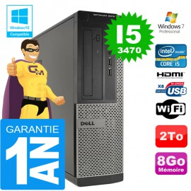 PC DELL 3010 DT Core I5-3470 Ram 8Go Disque 2 To Wifi W7