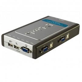 Switch KVM D-LINK DKVM-4U EKVM4U A4G 4x VGA-USB-Clavier-Souris U1