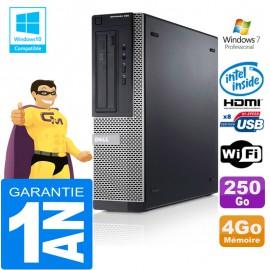 PC DELL 390 DT Intel G630 Ram 4Go Disque 250 Go Wifi W7