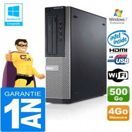 PC DELL 390 DT Intel G630 Ram 4Go Disque 500 Go Wifi W7