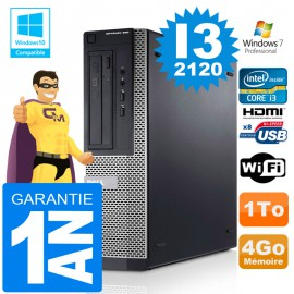 PC DELL 390 DT Core I3-2120 Ram 4Go Disque 1 To Wifi W7