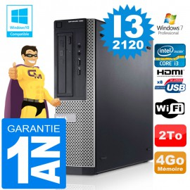 PC DELL 390 DT Core I3-2120 Ram 4Go Disque 2 To Wifi W7