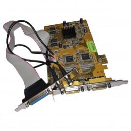 Carte Capture Hikvision DS-4316HCVI-E 16 Channel DVR NVR PCIe 2x MIDI BNC DB-25F