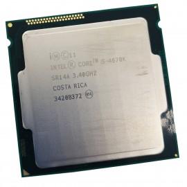 Processeur CPU Intel 4 Core I5-4670K SR1QJ 3.40Ghz FC-LGA 1150 6Mo 5GT/s Haswell