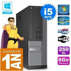PC DELL 7020 SFF Core I5-4570 Ram 8Go Disque 250 Go Graveur DVD Wifi W7