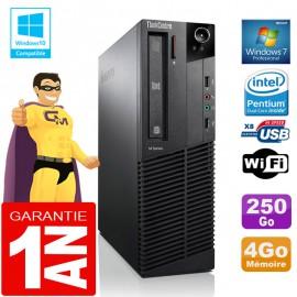 PC Lenovo M92p SFF Intel G630 Ram 4Go Disque 250 Go Graveur DVD Wifi W7