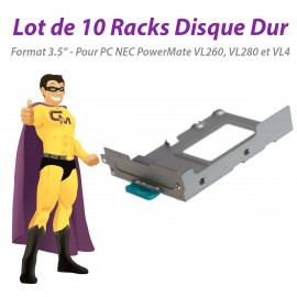 "Lot x10 Racks Disque Dur 3,5"" NEC PowerMate VL260 VL280 VL4 DT SATA"