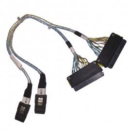 Câble SAS 2x SFF-8087 2x SFF-8484 Fujitsu T26139-Y3963-V21 A3C40103339 Interne