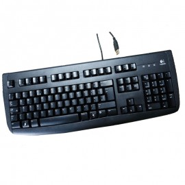 Clavier AZERTY USB Logitech Deluxe 250 Y-UL76 867675-0101 PC Keyboard 110Touches