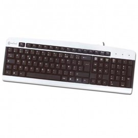 Clavier AZERTY PS/2 Connectland CL-CNL-KB-060-PS2 PC Keyboard 108 Touches