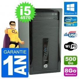 PC Tour HP ProDesk 400 G1 Intel i5-4570 RAM 8Go Disque Dur 500Go Windows 10 Wifi