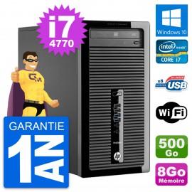 PC Tour HP ProDesk 400 G1 Intel i7-4770 RAM 8Go Disque Dur 500Go Windows 10 Wifi