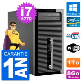 PC Tour HP ProDesk 400 G1 Intel Core i7-4770 RAM 8Go Disque 1To Windows 10 Wifi