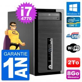 PC Tour HP ProDesk 400 G1 Intel Core i7-4770 RAM 8Go Disque 2To Windows 10 Wifi