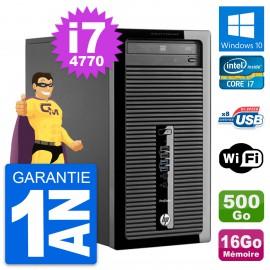 PC Tour HP ProDesk 400 G1 Intel i7-4770 RAM 16Go Disque 500Go Windows 10 Wifi