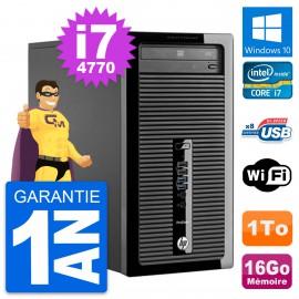 PC Tour HP ProDesk 400 G1 Intel Core i7-4770 RAM 16Go Disque 1To Windows 10 Wifi