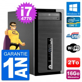 PC Tour HP ProDesk 400 G1 Intel Core i7-4770 RAM 16Go Disque 2To Windows 10 Wifi