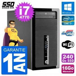 PC Tour HP ProDesk 400 G1 Intel Core i7-4770 RAM 16Go SSD 240Go Windows 10 Wifi