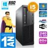 PC Lenovo M92p SFF Core I5-3470 Ram 8Go Disque 240 Go SSD Graveur DVD Wifi W7
