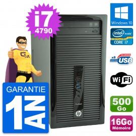 PC Tour HP ProDesk 400 G1 Intel i7-4790 RAM 16Go Disque 500Go Windows 10 Wifi
