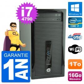 PC Tour HP ProDesk 400 G1 Intel Core i7-4790 RAM 16Go Disque 1To Windows 10 Wifi