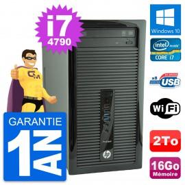 PC Tour HP ProDesk 400 G1 Intel Core i7-4790 RAM 16Go Disque 2To Windows 10 Wifi