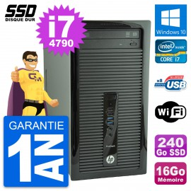 PC Tour HP ProDesk 400 G1 Intel Core i7-4790 RAM 16Go SSD 240Go Windows 10 Wifi