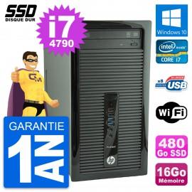 PC Tour HP ProDesk 400 G1 Intel Core i7-4790 RAM 16Go SSD 480Go Windows 10 Wifi
