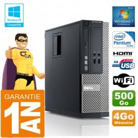 PC DELL 390 SFF Intel G630 Ram 4Go Disque 500 Go Graveur DVD Wifi W7