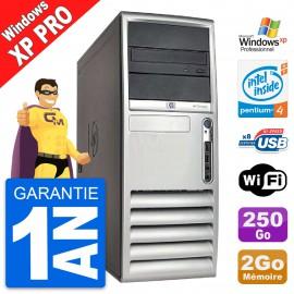 PC HP Compaq DC7100 CMT Intel Pentium 4 HT RAM 2Go Disque 250Go Windows XP Pro