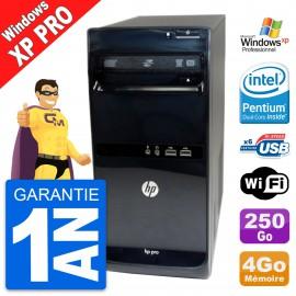 PC Tour HP Pro 3500 MT Intel G620 RAM 4Go Disque Dur 250Go Windows XP Pro