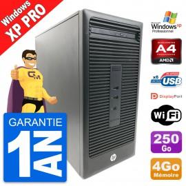 PC Tour HP 285 G2 MT AMD A4-5300 RAM 4Go Disque Dur 250Go Windows XP Pro