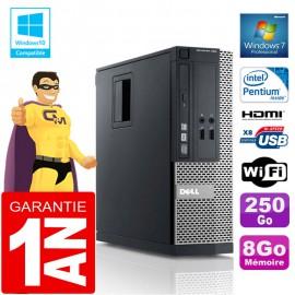 PC DELL 390 SFF Intel G630 Ram 8Go Disque 250 Go Graveur DVD Wifi W7