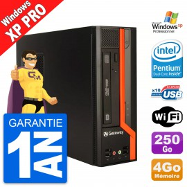 PC Gateway DS71 SFF Intel Pentium G620 RAM 4Go Disque Dur 250Go Windows XP