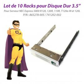 """Lot x10 Racks 3,5"""" NEC Express 5800 R120a 120R 110R 120Li A65278-005 741202-002"""