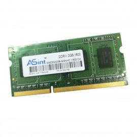 2Go RAM ASint SSZ302G08-GGNHC SODIMM PC3-12800S 1600MHz DDR3 1Rx8 PC Portable