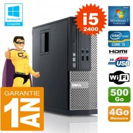 PC DELL 390 SFF Core I5-2400 Ram 4Go Disque 500 Go Graveur DVD Wifi W7