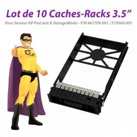 "Lot x10 Caches Rack 3.5"" HP DL165 DL180 DL380 G6 ML110 G7 467709-001 519560-001"
