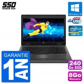 PC Portable 14'' HP ProBook 6460b Intel Core i5-2520M RAM 8Go SSD 240Go W10
