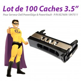 """Lot x100 Caches 3.5"""" Dell G7609 H7511 NF500 NF600 1900 2600 2950 4600 6900 T300"""
