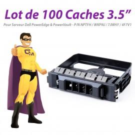 "Lot x100 Caches 3.5"" Dell NPTFH WKPNJ 7JWHY 4F7V1 T320 R420 T620 R720 MD3200"