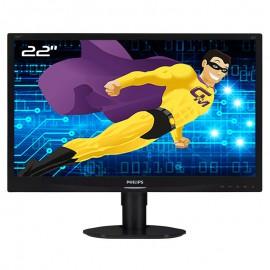 """Ecran PC Pro 22"""" PHILIPS 220S4LCB VGA DVI-D VESA Widescreen 16:10 LED TFT"""