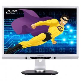 """Ecran PC Pro 22"""" PHILIPS 225PL2ES VGA DVI-D VESA Widescreen 16:10 LED TFT TN"""