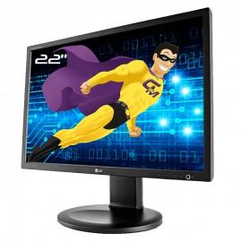 "Ecran PC Pro 22"" LG Flatron E2210PMW E2210PM-SN VGA DVI-D WideScreen 16:10 LED"
