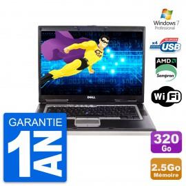 PC Portable 15.4'' Dell latitude d531 AMD sempron 3600+ RAM 2.5Go HDD 320Go W7