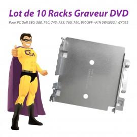Lot x10 Racks Dell 0WX053 WX053 380 580 740 745 755 760 780 960 SFF Graveur DVD