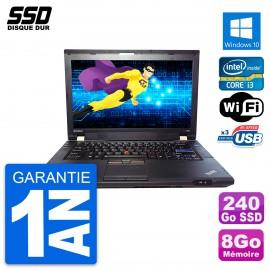 PC Portable 14'' Lenovo ThinkPad L420 Intel Core I3-2310M RAM 8Go SSD 240Go W10