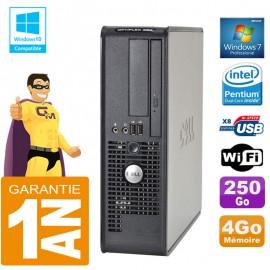 PC DELL 380 SFF Intel E5700 Ram 4Go Disque 250 Go Graveur DVD Wifi W7