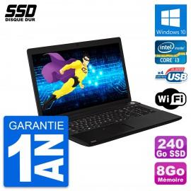 PC Portable 17.3'' Toshiba Pro C70-A-125 Core i3-3120M RAM 8Go SSD 240Go W10